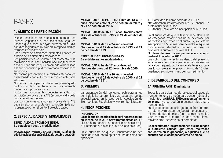 BASES Y REPERTORIO 3º CONCURSO ATE 20182