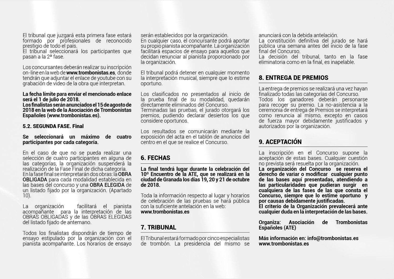 BASES Y REPERTORIO 3º CONCURSO ATE 20183