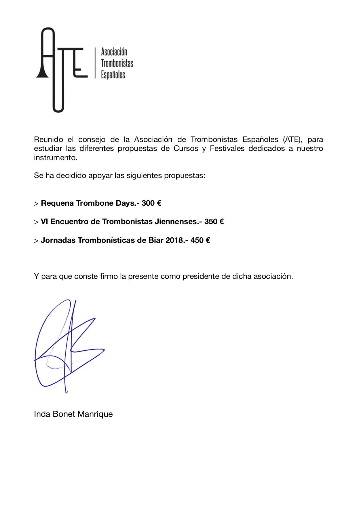 certificado ayudas 2018